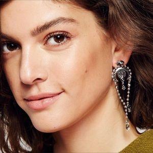 Free People Silver Mesa Jeweled Earrings